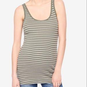Maternity Rib Knit Maternity Tank Stripe
